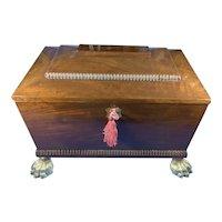 Regency Mahogany Sarcophagus Box.