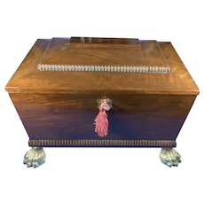 Regency Mahogany Sarcophagus Box.