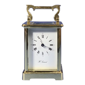 1950s Brass 8 Day  Carriage Clock With French Movement.