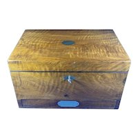 Victorian Walnut Stationary Box.