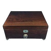Regency Plum Mahogany Jewellery Box.