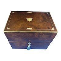 18th Century Brassbound Mahogany Box.