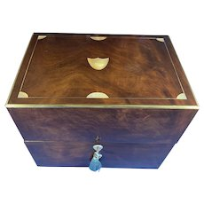 18th Century Brassbound Mahogany Box.