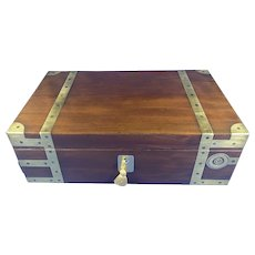 Georgian Brassbound Solid Mahogany Box.