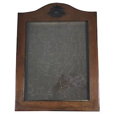Early Leather Photo Frame.