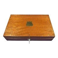 Late Victorian Arnold & Son, London Mahogany Box.