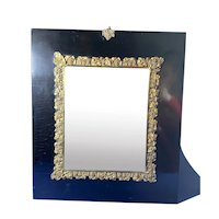 Georgian papier-mâché  Gilt Brass mounted mirror.