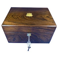 Victorian Rosewood Jewellery Box.