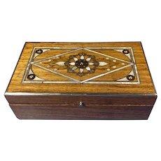 1920s Walnut Trinket Box.