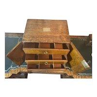 Victorian Oak Cedar Lined Cigar Cabinet.