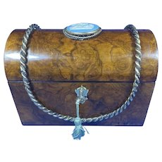 Victorian Burr  Walnut Stationary Box.