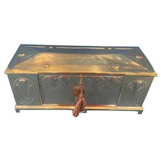 1920s Arts and Crafts Brass Box.
