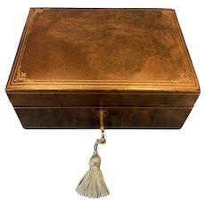 1930s Italian Leather Jewellery Box.