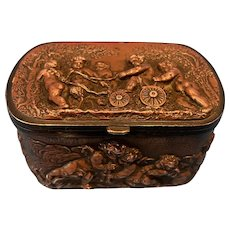 19th Century French Copper And Brass Jewel Box.