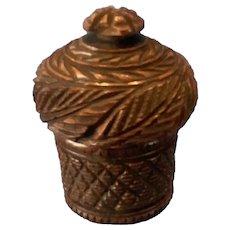 19th Century Coquilla Nut Inkwell.