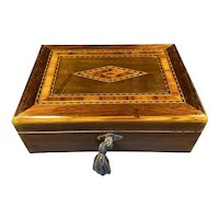 Victorian Rosewood Box With Inlay.
