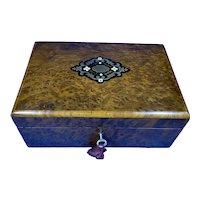 French 19th Century Burr Cedar Box.