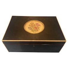 Late Victorian Ebonised Fruitwood Box.