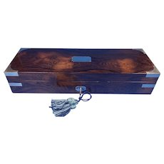 Victorian Rosewood Nickel Silver bound Writing box.