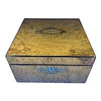 Victorian Burr Ash Box.