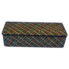 Georgian painted papier-mâché  snuff box.