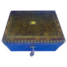Victorian Walnut Tunbridge Ware Inlaid Box.