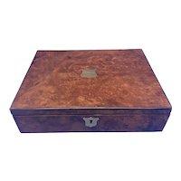 Victorian Burr Walnut Writing Box.