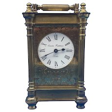 Victorian Gilt Brass  Charles Frodsham Carriage Clock.