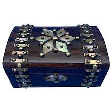 Victorian Brassbound French Rosewood Trinket Box.