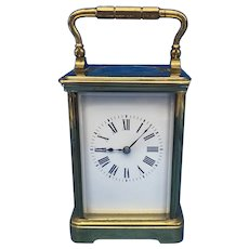 Victorian 8 Day  Brass Carriage Clock.