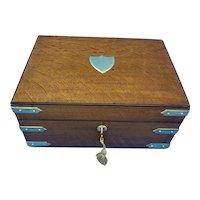 Victorian Oak Gentleman's Box.