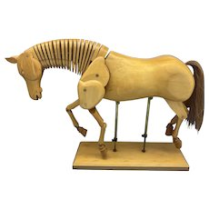 Artist Model of A Fruitwood Horse Featuring A Horse hair Tale.