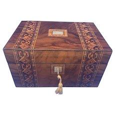 Victorian  Tunbridge Ware & Walnut Box.