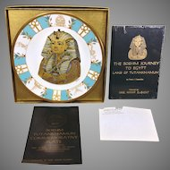 Vintage Boehm Tutankhamun Commemorative Plate and Book 1978