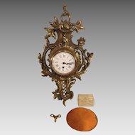 Vintage French Look Cartel Clock Circle Watch Corp England Running Buney - Maker or Jeweler