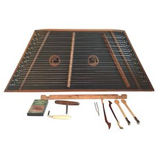 Vintage Hammered Dulcimer by Green River Dulcimers 1985 w/ Hammers & Hard Case