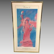 Vintage Original Signed Peter Max Serigraph Poster of Statue of Liberty 1981 Pop Artist  Item Description