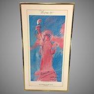 Vintage Original Signed Peter Max Serigraph Poster of Statue of Liberty 1981 Pop Artist  Item Description