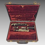 Antique A Fontaine Clarinet Grenadilla Wood in Case Made in France