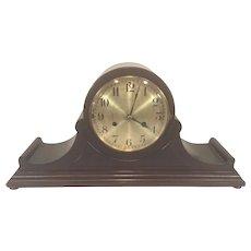 Vintage Hamburg American Clock Co (HAC) Tambour Case Clock Running? Westminster Chimes