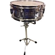 Groove Percussion Snare Drum Case & Stand Head Signed by Musical Artists Ted Bobik & Others