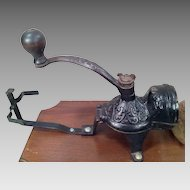 Vintage W H Company Coffee Grinder on Wall Plate