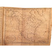 11th Edition of Geography Made Easy Book by Jedidiah Morse 1807 All 2 Maps Complete  Calf Leather Covers