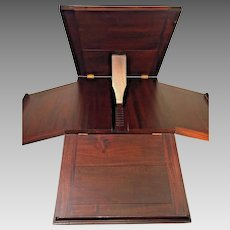 Antique Revolving Mahogany Music Stand 5 Shelverfor Holding Music Very Well Made