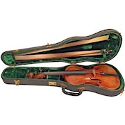 Antique Violin Jacobus Stainer Model  w/ Nice 8 Sided German Bow & Case