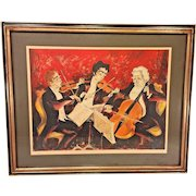 Jules Limited Edition Print of Symphony Scene  Pencil Signed and Numbered Framed and Matted #92 of 120