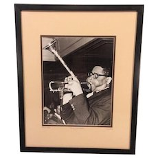 Vintage Dizzy Gillespie Limited Edition Photo Print from 1947 Framed COA from Mark Reuben Gallery