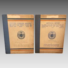 2 Books on the Silver Jubilee Exposition of Greater New York City 1923  First Edition - Presented to William McCaughan