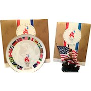 1996 Summer Olympics - Collectible Plate and Track and Field Figurine