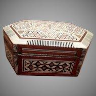 Trinket Box with Inlay and Beautiful Corner Design